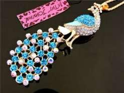 Betsey Johnson Blue Peacock Pendant