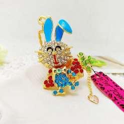 Betsey Johnson Blue Rabbit Pendant