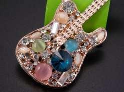 Betsey Johnson Guitar Pendant