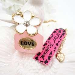 Betsey Johnson Perfume Bottle Pendant