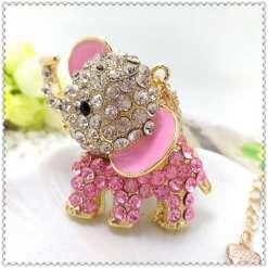 Betsey Johnson Pink Baby Elephant Pendant