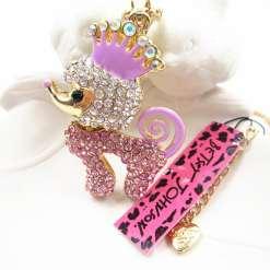 Betsey Johnson Pink Dog Pendant