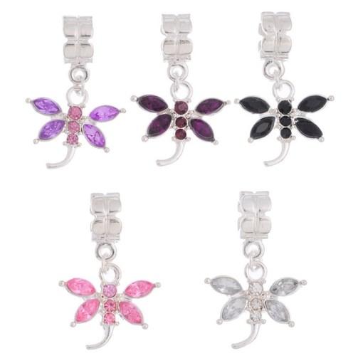 Gemstone Dragonfly Dangles