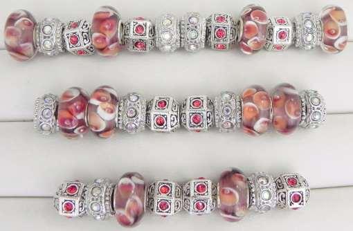 Plum Orange European Beads Collection