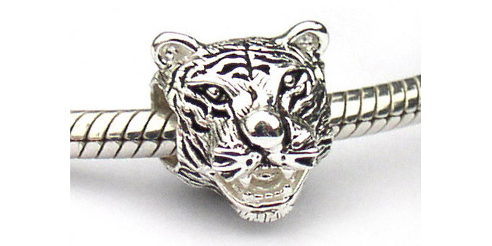 Tiger bead charms for bracelets