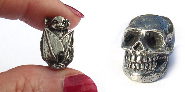 Zombies, bats, and gargoyle beads for Halloween Jewelry