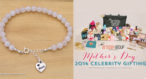 Rose Quartz Jewelry Bracelet for Celebrity Moms