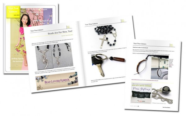 Beads for men digital magazine article