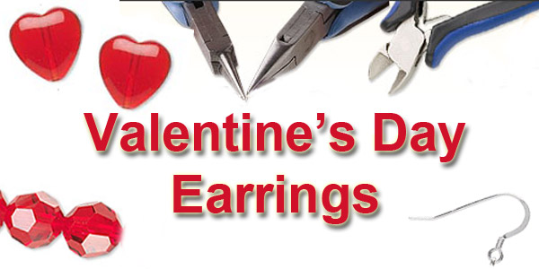 Valentine hearts earrings are easy to make