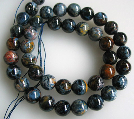 AA Blue Pietersite 10mm Round Beads