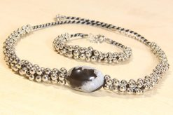 Silver Moon Bracelet and Necklace Kit