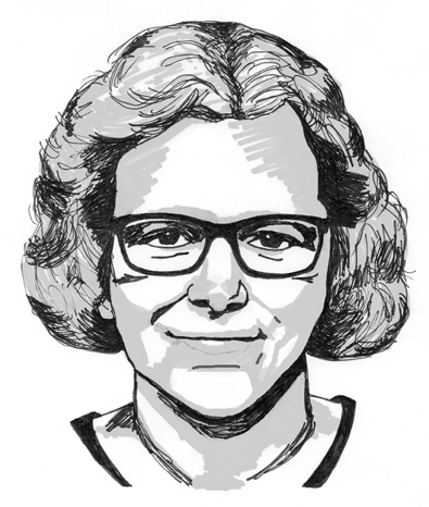 Hand drawn self portrait of BeaG, Bea Graansma