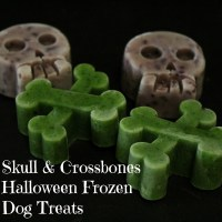 Skull and Crossbones Halloween Frozen Dog Treats