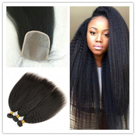 Brazilian Kinky Straight Hair Extensions With A Silk Base
