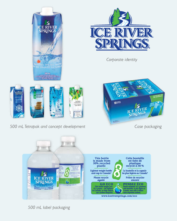 Ice River Springs, tetra, packaging, water, canadian