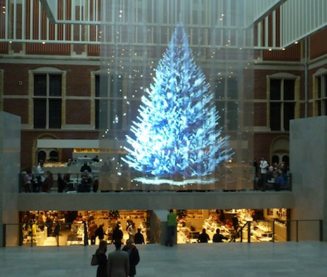 Holographic Christmas Tree At Rijksmuseum Amsterdam