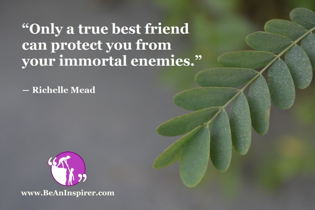 """""""Only a true best friend can protect you from your immortal enemies."""" ― Richelle Mead"""