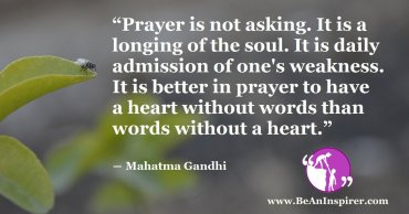 Have Heart In Your Prayers; Not Just Words