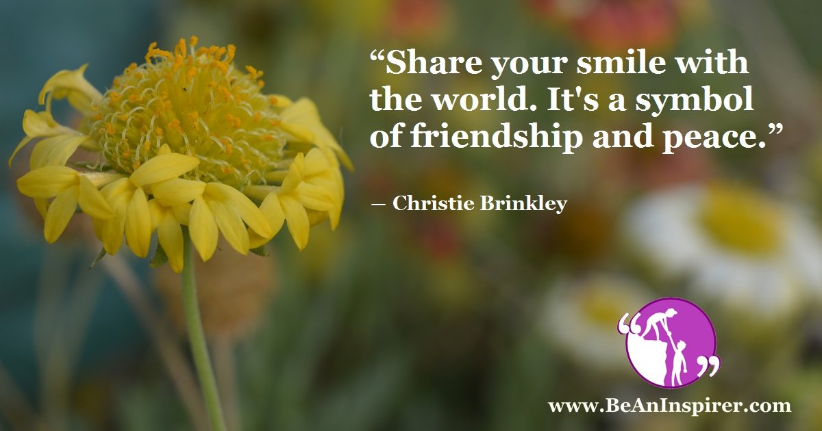 the power of a positive smile means of peace and friendship