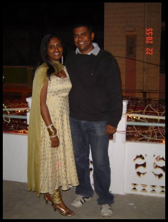 Shalini-Saraswathi-with-her-husband-Prashanth-Chowdappa-Be-An-Inspirer