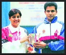 Madhumita-Bisht-after-winning-mixed-doubles-Be-An-Inspirer