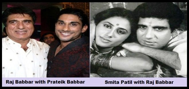 Raj-Babbar-with-Prateik-Babbar-and-Smita-Patil-with-Raj-Babbar-Be-An-Inspirer