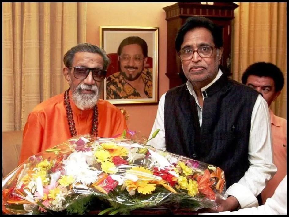 Shiv-Sena-Chief-Bal-Keshav-Thackeray-with-Hridaynath-Mangeshkar-Be-An-Inspirer