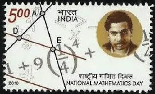 Srinivasa-Ramanujan-Stamp-for-National-Mathematics-Day-22nd-December-Be-An-Inspirer