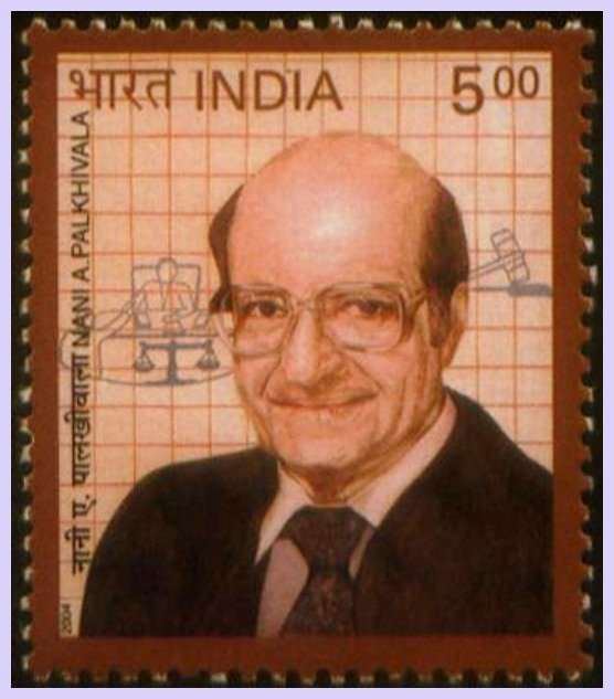 Stamp-released-to-commemorate-the-94th-Birth-Anniversary-of-Nanabhoy-Palkhivala-by-the-Government-of-India-in-2004-Be-An-Inspirer