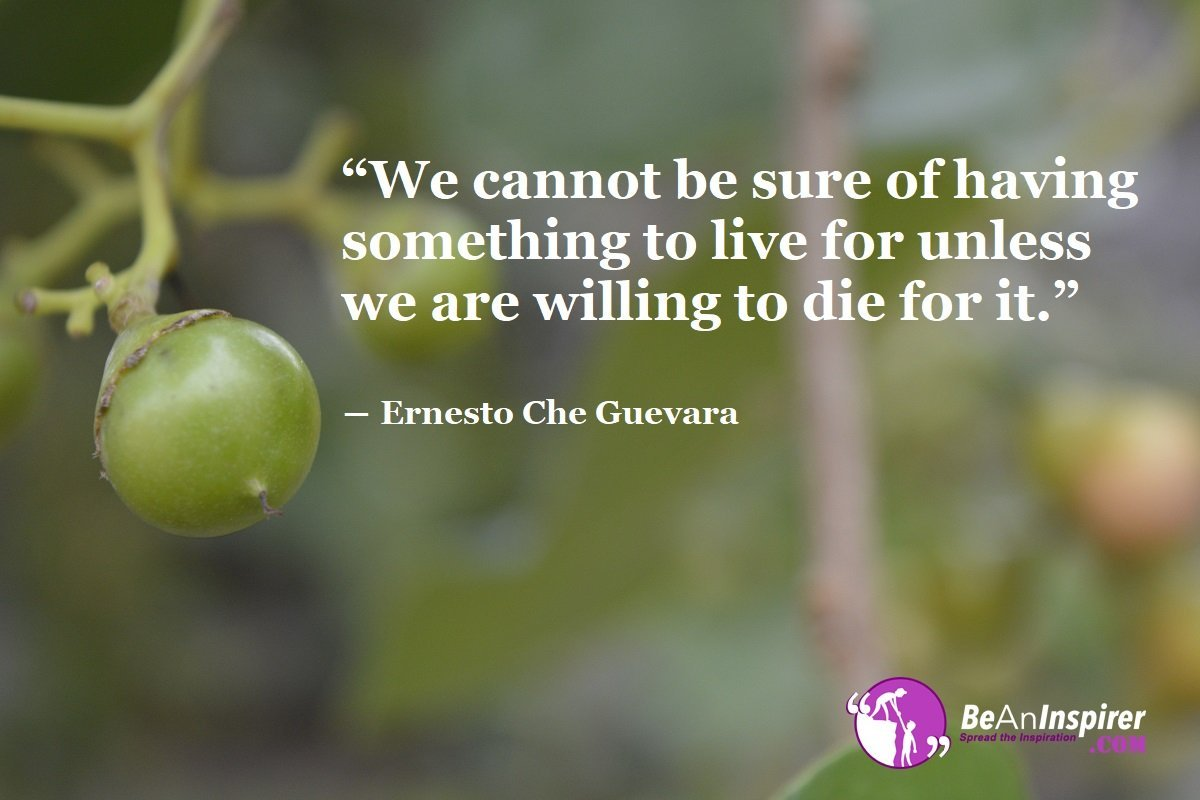 We-cannot-be-sure-of-having-something-to-live-for-unless-we-are-willing-to-die-for-it-Ernesto-Che-Guevara-Bravery-Quote-Be-An-Inspirer