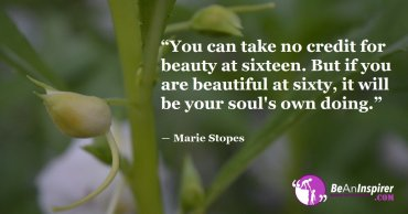 The Outer Beauty Fades But The Inner Beauty And The Good Deeds Of The Soul Are For Eternity