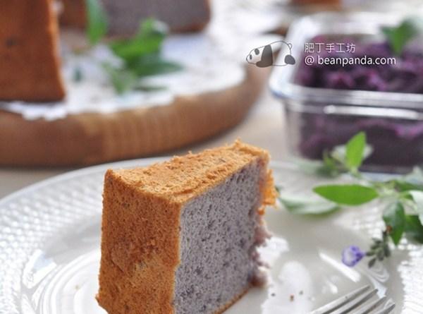 紫薯戚風蛋糕【夢幻醉人 / 少糖無油】Purple Sweet Potato Chiffon