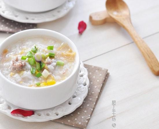 瑤柱粟米瘦肉粥【清爽鮮甜】Dried Scallop Congee