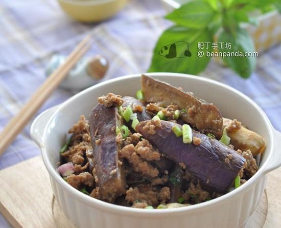 麵鼓茄子炒肉鬆【茄香四溢】Stir-fried Eggplant with Miso
