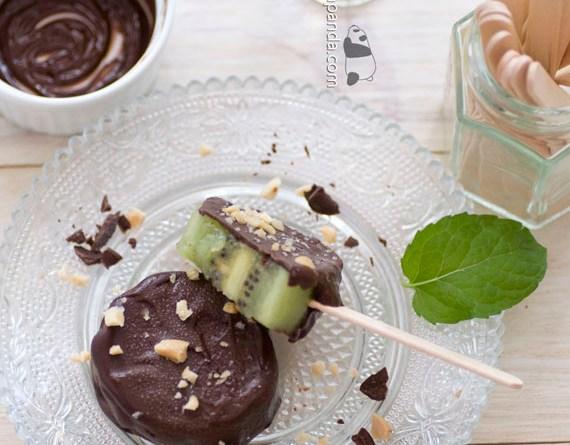 朱古力脆皮奇異果雪條【簡易甜品】Kiwi Chocolate Ice Pop