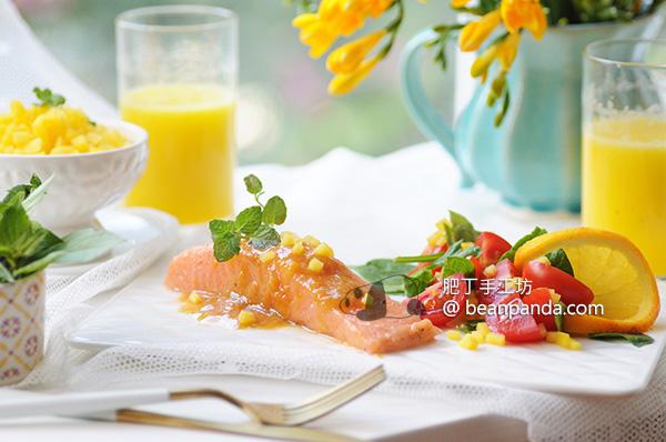 慢煮三文魚(鮭魚)【蒸烤爐食譜】Slow Cooked Salmon
