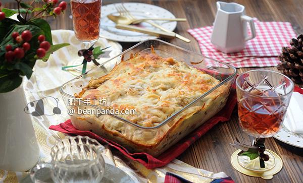 白花椰菜白醬鮭魚千層麵 低卡低脂不膩 Cauliflower Béchamel Salmon Lasagne Recipe