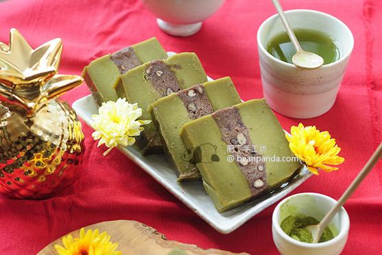 紅豆抺茶年糕【古法米磨】Matcha Adzuki Bean Year Cake