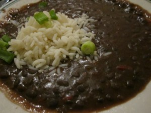 Black Beans and Rice at The Gumbo Shop