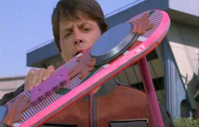 Marty McFly's hoverboard.