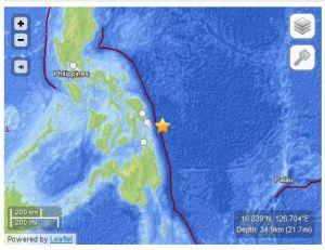 7.6 Philippine earthquake