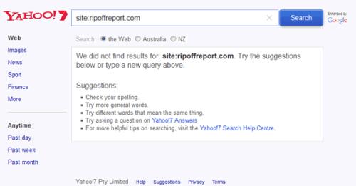 Ripoff Reportt De-Indexed In Australia.