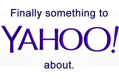 Finally something to Yahoo! about.