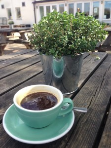 Another great coffee outside, this time at Skylark cafe