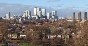 Edmond Halley, Canary Wharf, Isle of Dogs, view from Greenwich