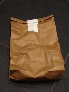 paper bag roasted coffee