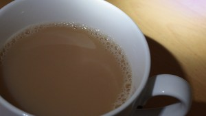 caustic in a cup of tea or coffee