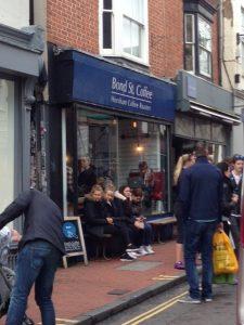 Outside Bond St Coffee Brighton
