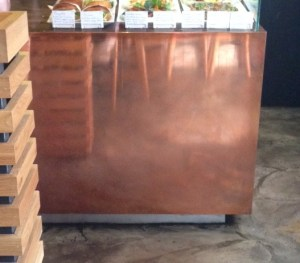 copper mirror Kaffeine Eastcastle St