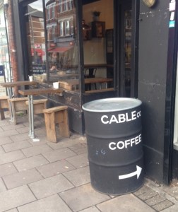 coffee in Kensal Rise, Cable Co